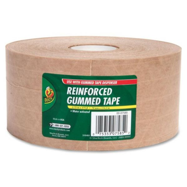 "Duck Brand Reinforced Gummed 2.75"" Packing Tape"