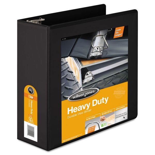"Wilson Jones Heavy-Duty 4"" 3-Ring View Binder"