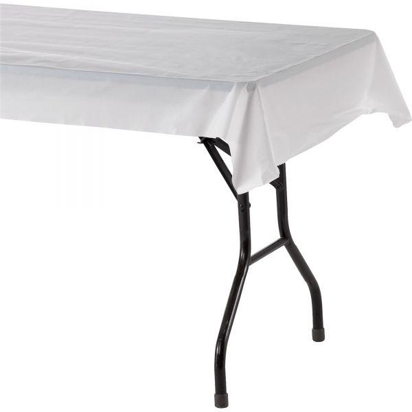 Genuine Joe Banquet-size Plastic Tablecover