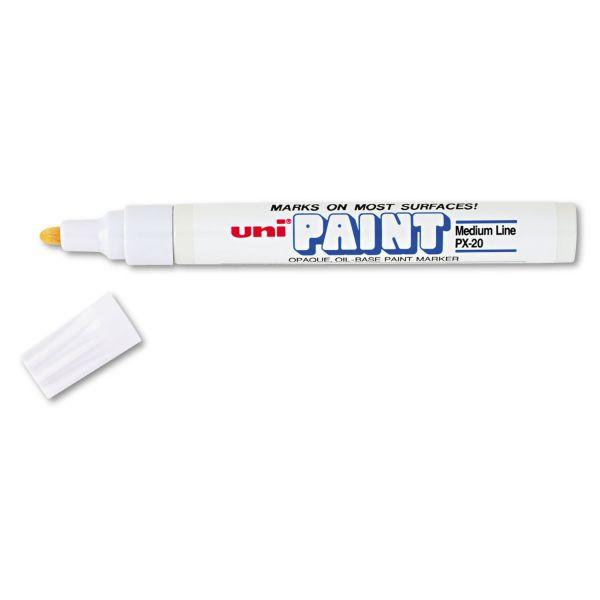 Sanford uni-Paint uni-Paint Marker, Medium Point, White