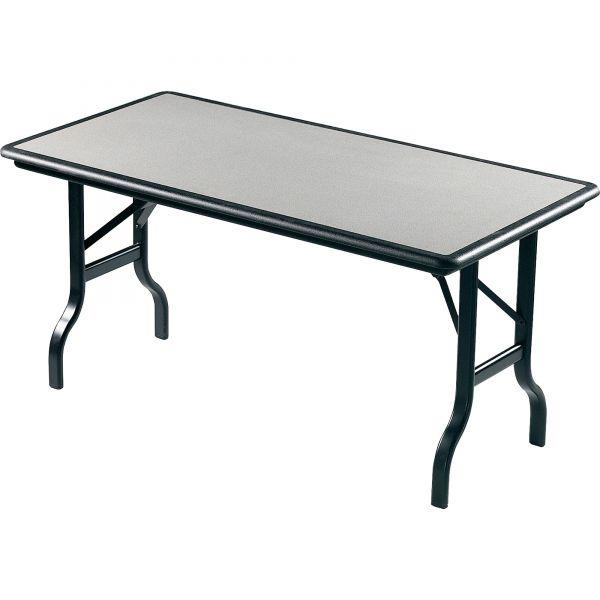 Iceberg IndestrucTables Resin Rectangular Folding Table, 60w x 30d x 29h, Granite/Black