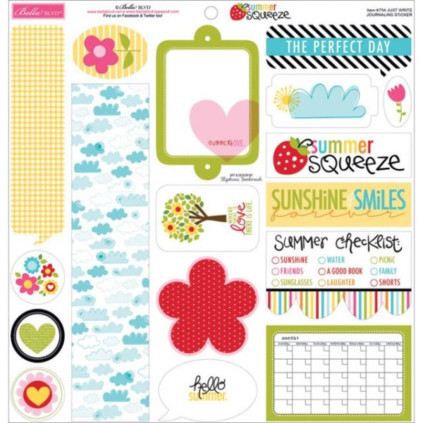 "Summer Squeeze Cardstock Stickers 12""X12"""