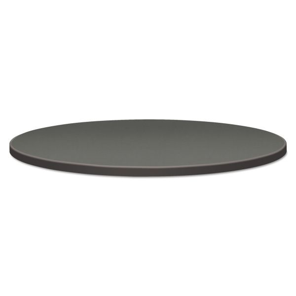 "HON Self-Edge Round Hospitality Table Top, 42"" Dia., Steel Mesh/Charcoal"