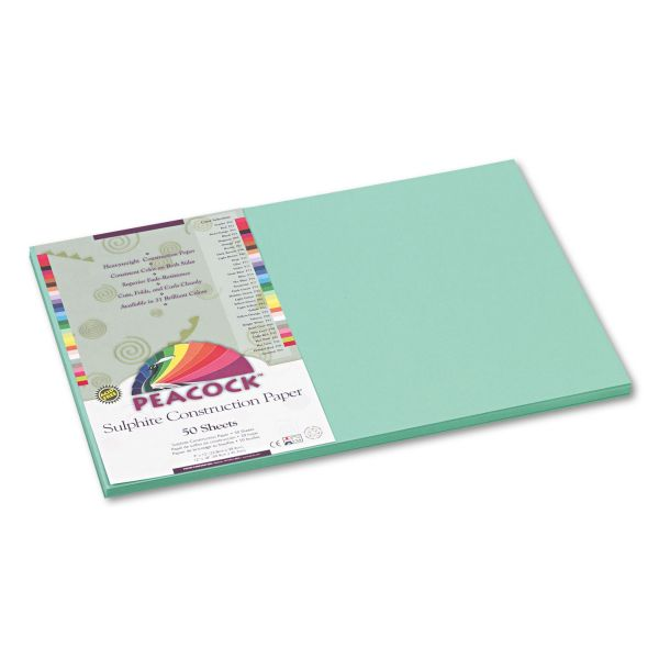 Peacock Sulphite Green Construction Paper