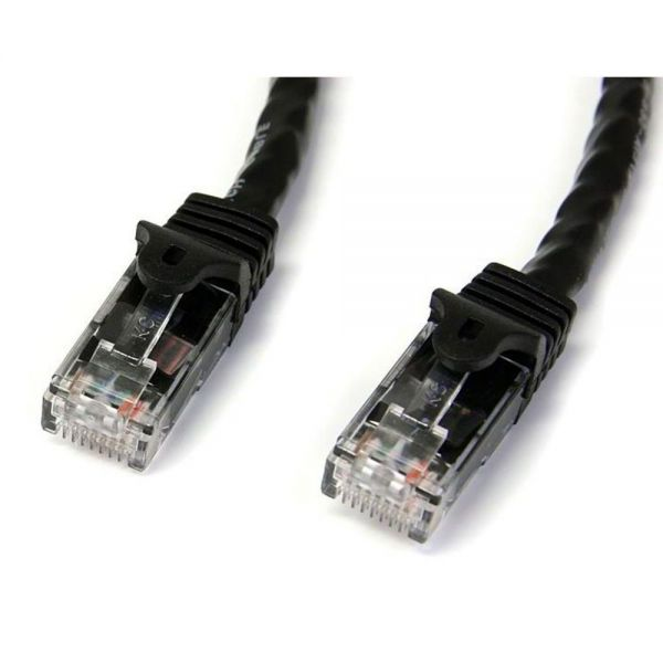 StarTech.com 7 ft Black Snagless Cat6 UTP Patch Cable - ETL Verified