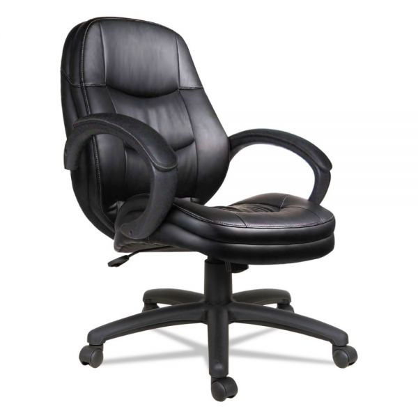 Alera PF Series Mid-Back Leather Office Chair