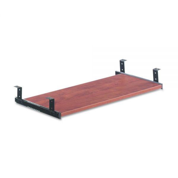 Alera Underdesk Keyboard/Mouse Shelf, 28 x 12, Medium Cherry