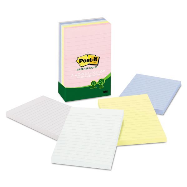 Post-it Ruled/Lined Greener Notes