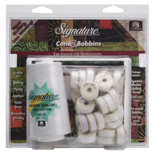 Signature Machine Quilting Cone & M Bobbin Pack