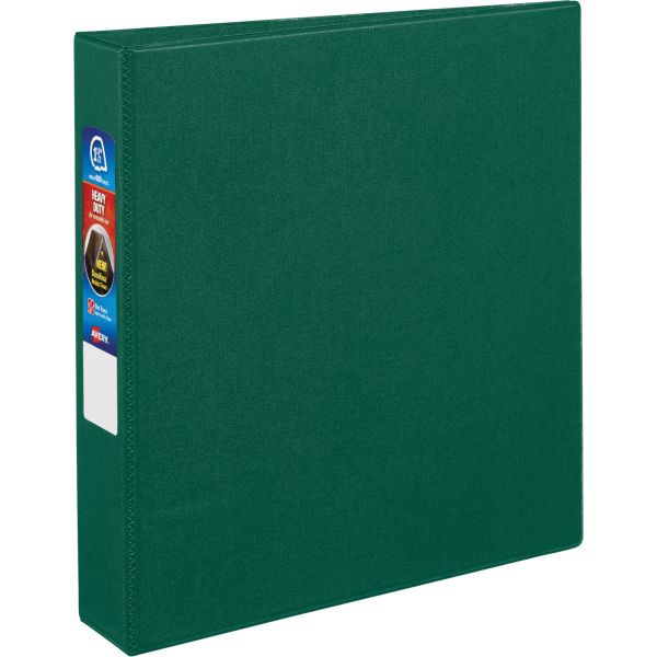 """Avery Heavy-Duty 3-Ring Binder with One Touch EZD Rings, 1 1/2"""" Capacity, Green"""