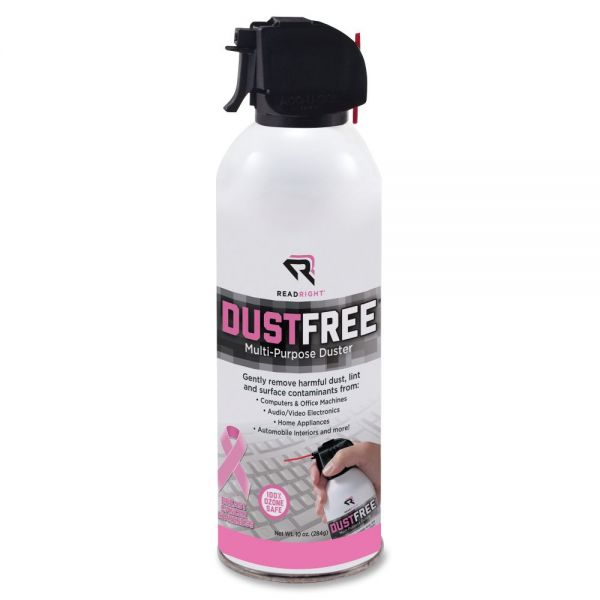 Dust Free Canned Air Pink Ribbon Compressed Gas Duster