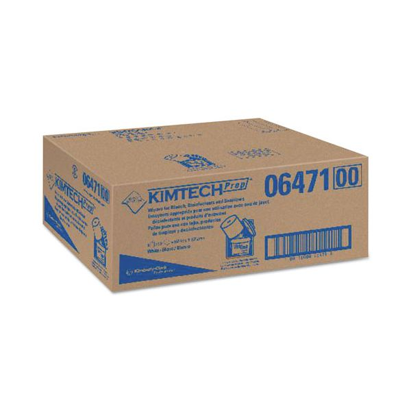 Kimtech* Wipers for Bleach Disinfectants Sanitizers, 12 x 12 1/2, 90/Roll