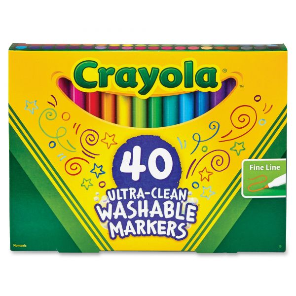 Crayola 40 Ultra-Clean Washable Markers