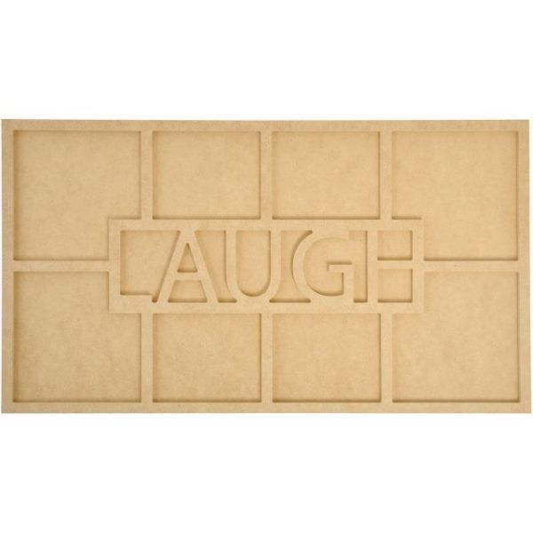Beyond The Page MDF Laugh Word Frame W/8 Openings