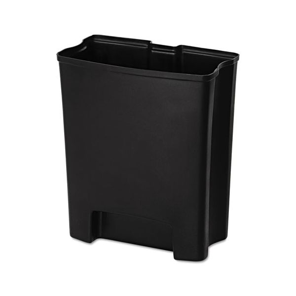 Rubbermaid Commercial Step-On Rigid Liner For Stainless Front Step, Plastic, 24 gal, Black