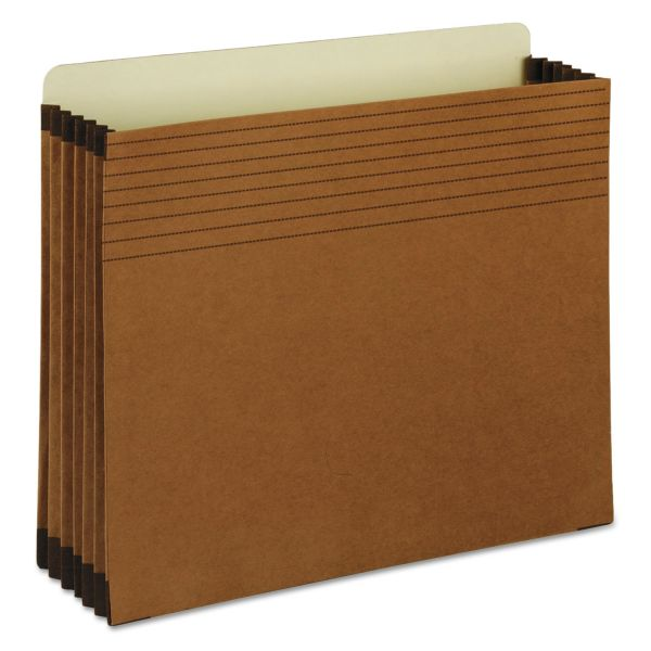 "Smead Easy Grip File Pocket, Letter, 5 1/4"" Exp, Redrope, 10/BX"