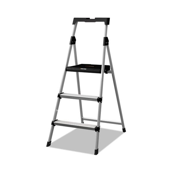 Louisville 3-Step Aluminum Step Ladder