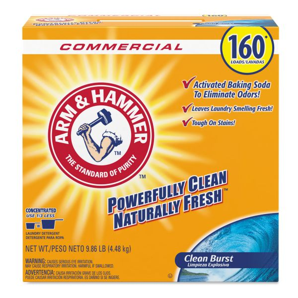 Arm & Hammer Powder Laundry Detergent, Clean Burst, 11.9 lb, Box, 3/Carton