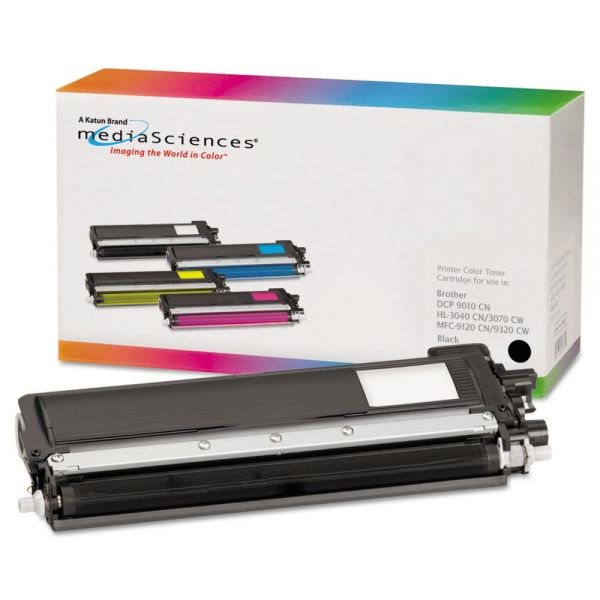 Media Sciences Remanufactured Brother TN210BK Black Toner Cartridge