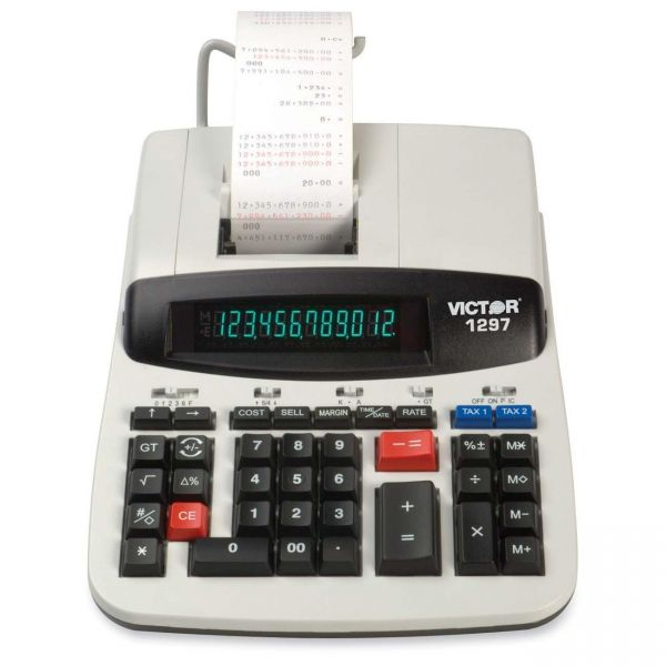 Victor 1297 Commercial Printing Calculator with Left Side Total and Equals Plus Logic