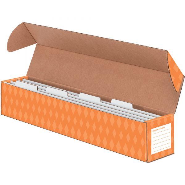 Bankers Box Sentence Strip Storage Box w/4 Dividers