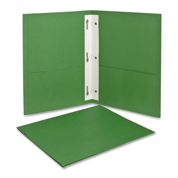 Oxford Light Green Two Pocket Folders with Fasteners