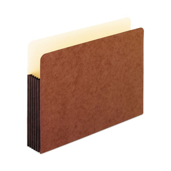 Pendaflex Watershed 5 1/4 Inch Expansion File Pockets, Straight Cut, Letter, Redrope
