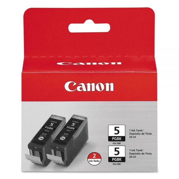 Canon PGI-5 Black Ink Cartridges (0628B009)