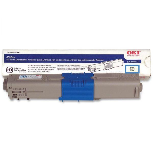 Oki 44469721 Cyan Toner Cartridge