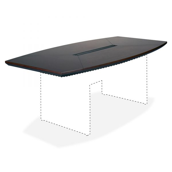 Tiffany Industries Corsica Boat Shape Conference Table Top, 72w x 36d, Mahogany