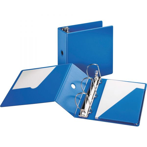 "Cardinal SuperStrength Locking 3-Ring Binder, 5"" Capacity, Slant-D Ring, Blue"
