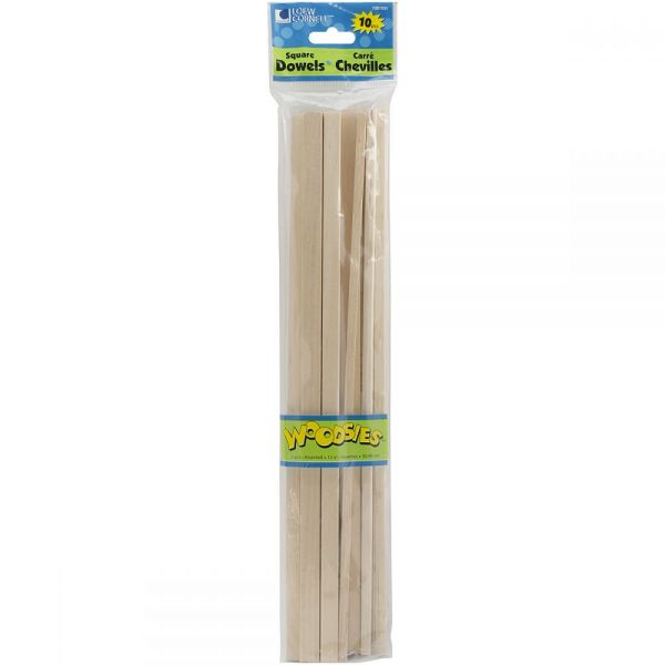 Woodsies Square Craft Dowels