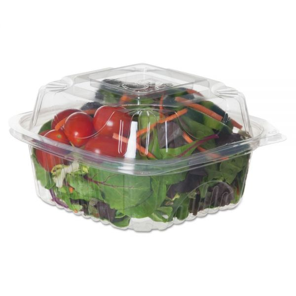 """Eco-Products Renewable & Compostable Clear Clamshells - 6"""" x 6"""" x 3"""", 80/PK, 3 PK/CT"""
