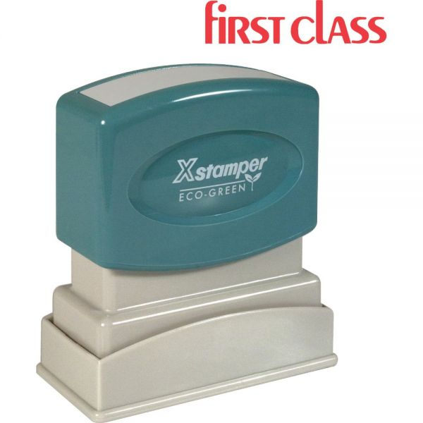 Xstamper FIRST CLASS Title Stamp