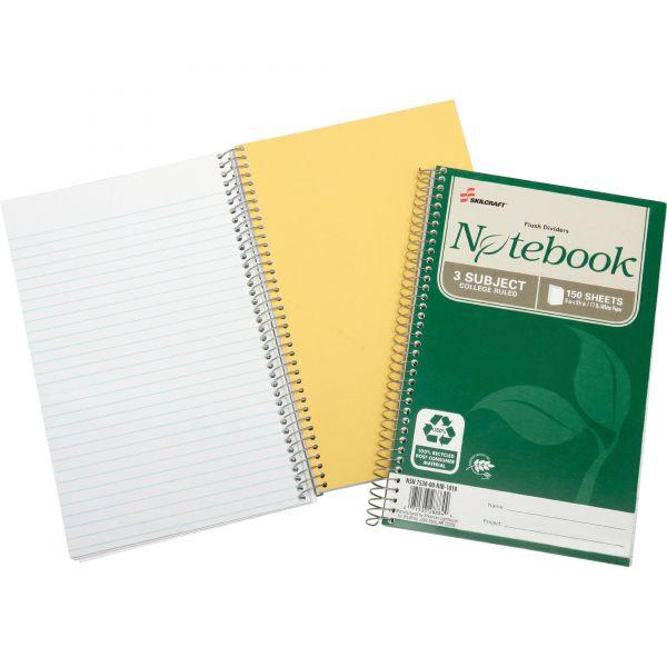 SKILCRAFT 3-Subject Spiral Notebook