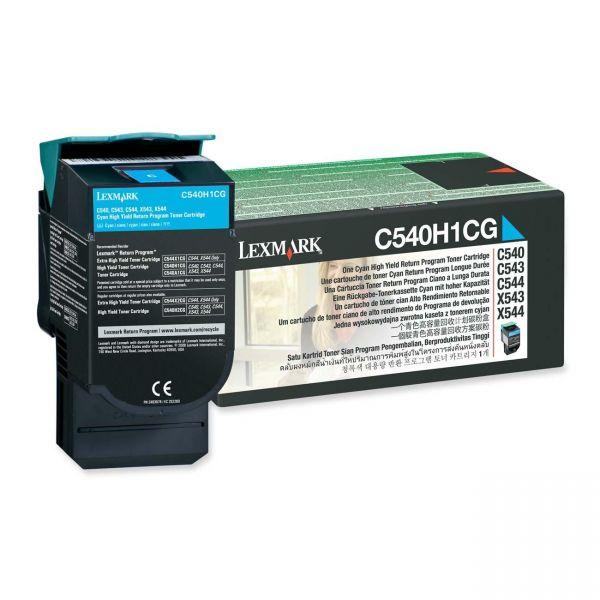 Lexmark C540H1CG Cyan High Yield Return Program Toner Cartridge