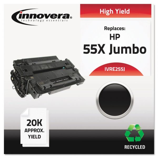 Innovera Remanufactured HP 55X Jumbo High Yield Toner Cartridge