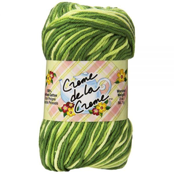 Creme de la Creme Yarn - Greentones