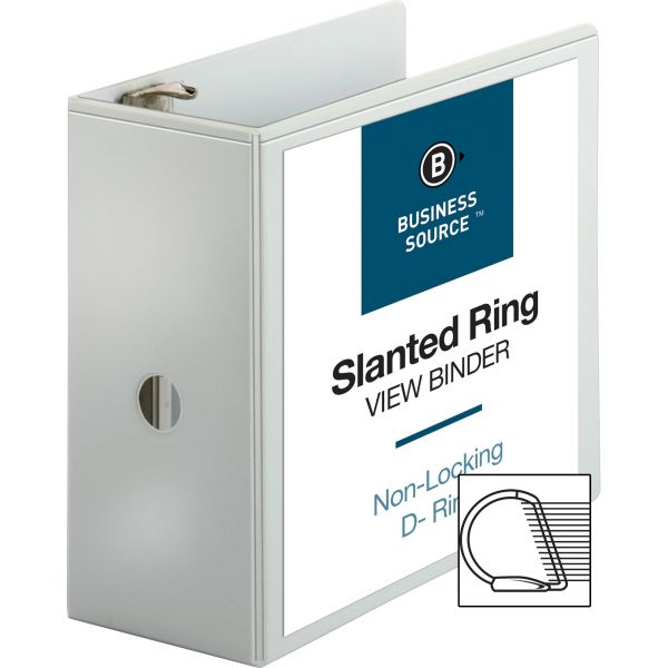 """Business Source 5"""" 3-Ring View Binder"""