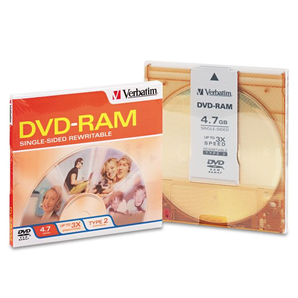 Verbatim Rewritable DVD Media With Jewel Case