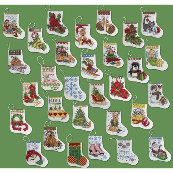 More Tiny Stockings Ornaments Counted Cross Stitch Kit