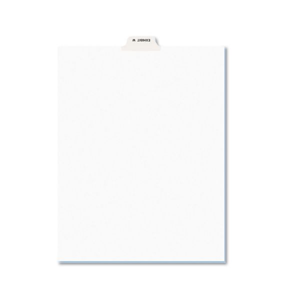 Avery Avery-Style Preprinted Legal Bottom Tab Dividers, Exhibit W, Letter, 25/Pack