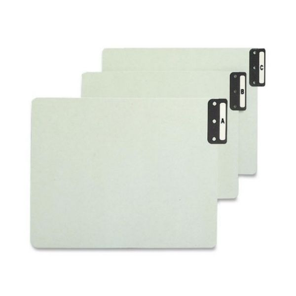 Smead 100% Recycled Extra Wide End Tab Alphabetic Pressboard File Guides
