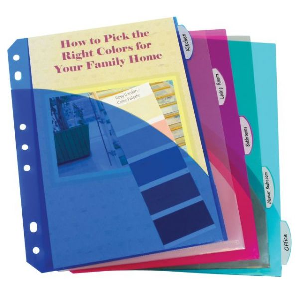 "C-Line 5.50"" x 8.50"" Poly Index Dividers with Pockets"
