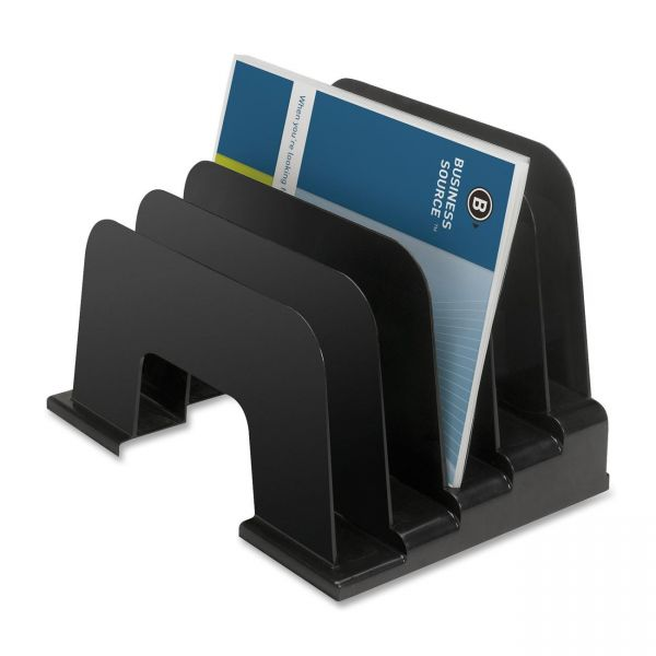Business Source Large Step Incline Vertical File Organizer