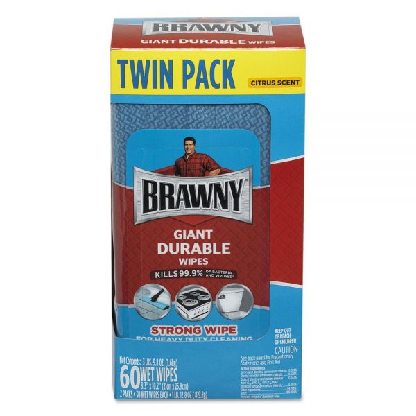 Brawny Giant Durable Disinfecting Wipes