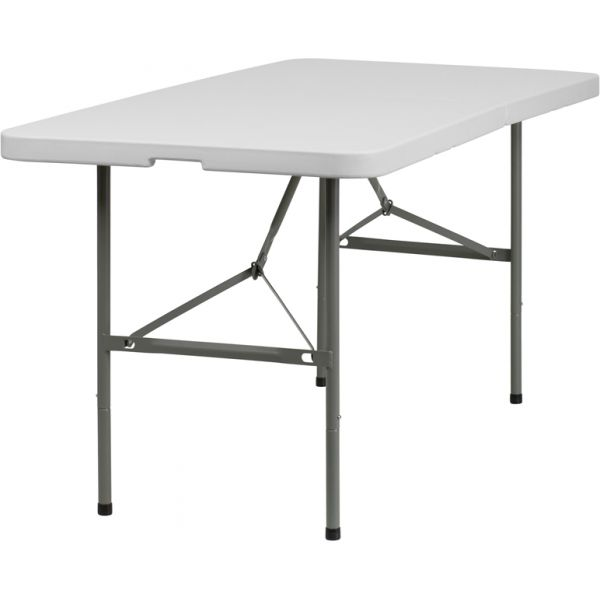Flash Furniture 30''W x 60''L Bi-Fold Folding Table