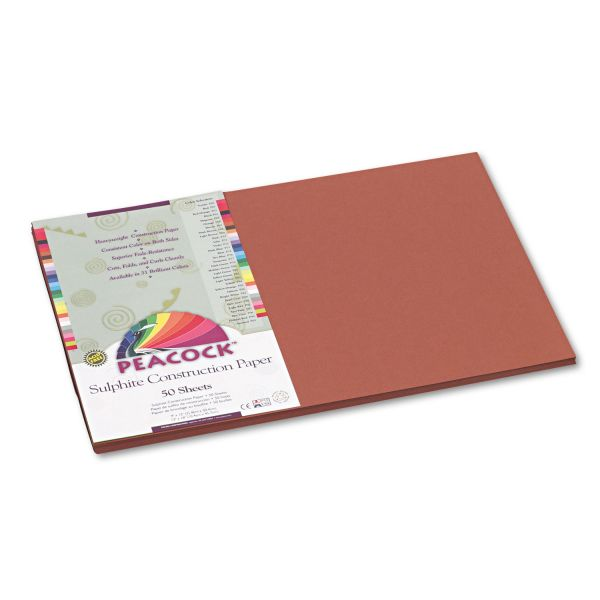Peacock Sulphite Brown Construction Paper