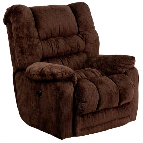 Flash Furniture Contemporary Temptation Mahogany Microfiber Power Recliner with Push Button