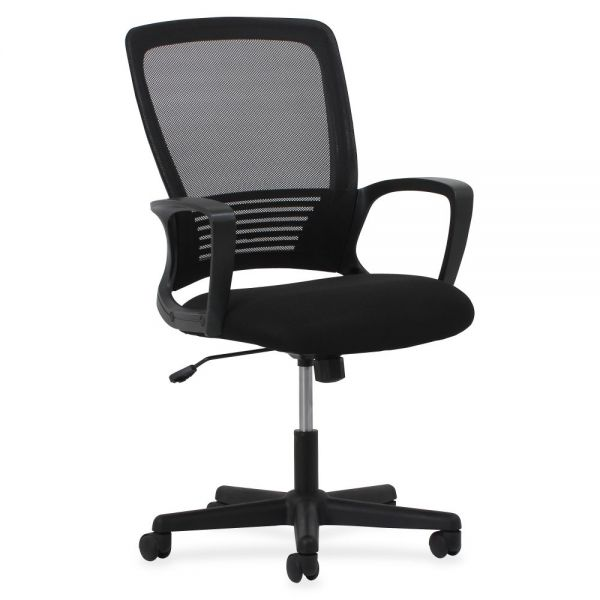 Lorell Sandwich Seat Mesh Mid-Back Office Chair